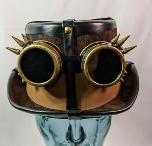 Steampunk Top Hat Americana Halloween Costume Cosplay Party Removable Goggles