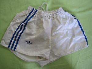 Short Adidas Ventex Blanc OM Vintage satin brillant nylon Oldschool 80'S - 75