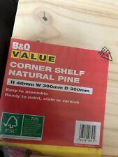 B & Q NATURAL PINE CORNER SHELF X 2