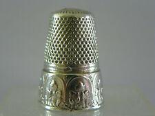 AncienDé à coudre en argent/thimble silver