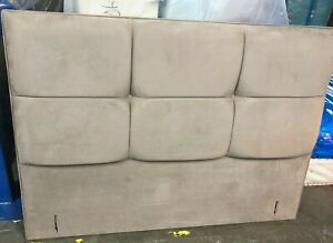 Hypnos FIONA Headboard for shallow Base king size 5ft BEIGE F.SUEDE RRP £750
