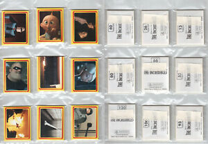 Panini Incredibles 2004 - complete set of 120 stickers / free shipping