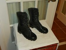 RO SEARCH BLACK LEATHER MILITARY COMBAT BOOTS SIZE Men's 3 XW Women's 5 XW