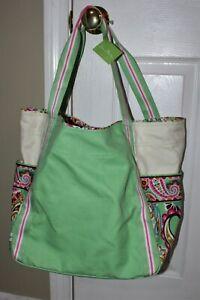 Vera Bradley Colorblock Tutti Frutti Shopping Travel Overnight Tote Bag Large