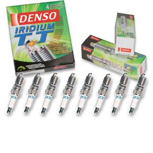 8 pc Denso Iridium TT Spark Plugs for 1999-2013 GMC Sierra 1500 4.8L 5.3L xv