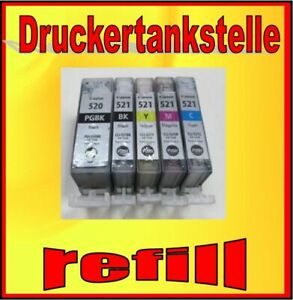 Multipack Refill PGI-520 CLI-521 Pixma IP 4700 Mp 550 560 620 630 640 980 MX870