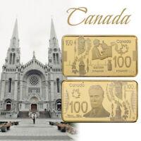 WR Canada, 100 dólares, lámina de oro, barra de coleccionista, regalo para barra
