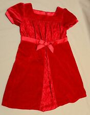 American Girl Bitty Baby Retired Child Dress Size 5 Med Sweet Scarlet Velveteen