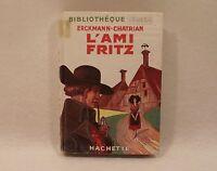 L'AMI FRITZ ancienne bibliotheque verte Hachette ERCKMANN-CHATRIAN 1950 jaquette