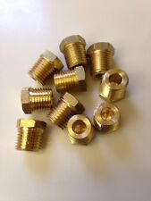 10 Pcs 14 Npt Male Pipe Thread Brass Pipe Cored Hex Head Plug Made In Usa