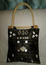 Handmade Fabric Beaded Cowrie Shells Tote Bag Purse