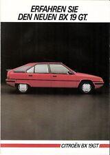 Prospekt / Brochure Citroen BX 19 GT 05/1985