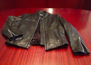 New Café Racer Biker Riding Black Leather Jacket W Thinsulate Insulation Men's M