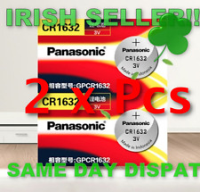 CR1632 1632 DL1632 PANASONIC 3V Lithium Batteries Cell Button Coin Battery 2Pcs
