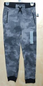 Old Navy boys Zip-Pocket Jogger Sweatpants sz L 10-12 New! Dark Gray Tie-Dye