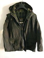 Mens Barbour Durham Hooded wax jacket Dark Blue coat Large / Extra Large L/XL