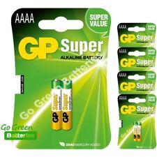 10 x GP AAAA 1.5V Alkaline Batteries MN2500 E96 GP25A LR61 25A Jabra Headset