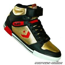 Uomini CONVERSE All Star CONS ERX 300 Black Gold Leather Hi Scarpe da ginnastica Stivali TAGLIA UK 8