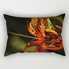 Neon Lily (#3) ~ 12x17 RECTANGLE OBLONG THROW PILLOW ~ Psychedelic Nature Design