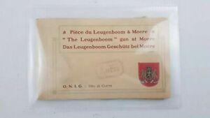 WW1 Booklet of 10 Postcards German Novel Gun Leugenboom at Moere Lange Long Max