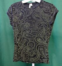 """Susan Lawrence Sleeveless Casual Top Blouse SIZE PS Petites Small Chest 32"""""""