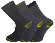 3 Pairs Mens Heavy Duty Thermal Work Socks Safety BOOTS Winter Warm Workwear Mixed Colours