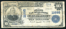 1902 $10 THE FIRST NB OF HARTWELL, GA NATIONAL CURRENCY CH. #11695