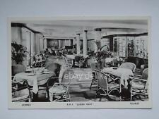 QUEEN MARY Cunard nave ship liner paquebot lloyd old postcard lounge tourist