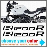 2pcs Adesivi R1200 R compatibile con BMW R1200R moto serbatoio