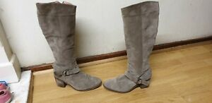Womens Suede Boots Size Uk 6 Eu 40 Made In Portugal