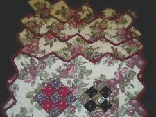 Placemats Patchwork Quilted Diamond Point Edges Set of Four NEW