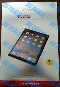 """ZAGG - InvisibleShield HD Glass Screen Protector for Apple iPad Pro 12.9"""" ID7GLS"""