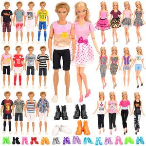 Barwa 10 KEN clothes + 5 Barbie pants + 5 dress + 4 KEN shoes + 10 shoes