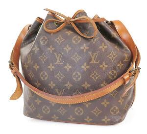 Authentic LOUIS VUITTON Petit Noe Monogram Shoulder Tote Bag Purse #39236