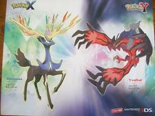 "Pokemon X and Y  (2 sided) Gamestop Promo Ad Poster 28"" x 22""~ FREE Shipping!"