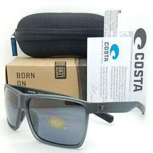 NEW Costa Del Mar Rincon Sunglasses Matte Smoke Crystal Grey 580P AUTHENTIC