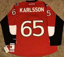 ERIK KARLSSON SIGNED OTTAWA SENATORS RBK PREMIER JERSEY NHL AUTOGRAPHED JSA COA