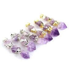 Freeform Natural Druzy Geode Amethyst Gemstone Crystal Healing Pendant