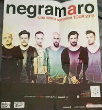 POSTER CONCERTO NEGRAMARO UNA STORIA SEMPLICE TOUR 2013