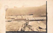 Vtg Azo c 1917 Rppc Photo Postcard Men Farm Construction Workers Mexican / A46
