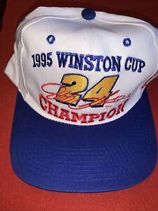 Jeff Gordon Vintage 1995 Nascar Winston Cup 24 Champion Hat Snapback Cap New NWT