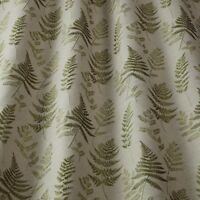 Ferns Willow - By iliv - Embroidered Fern Leaf Design Fabric - Selling Per Metre