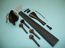 Complete Set Rosewood Dresden  Chin Rest pegs Tail Piece Ebony Fingerboard