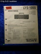 Sony Service Manual CFS 1055 Cassette Corder (#3506)