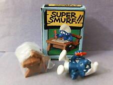 SUPER SMURF -- Old Box -- School Desk  #6724