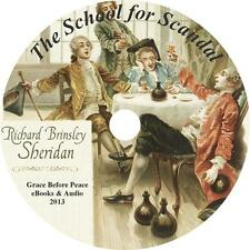 The School For Scandal, Richard B Sheridan Class Comedy Audiobook on 1 MP3 CD