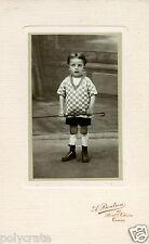 Photo ancienne CDV cabinet Tours Boidron  Portrait petit garçon avec canne