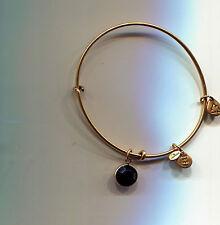ALEX & ANI gold black onyx charm bracelet
