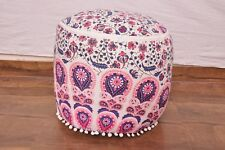 Ottoman Cover Bohemian Paisley Mandala Cotton Handmade Pouf Cover Chair Bean Bag