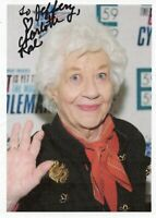 Charlotte Rae Original Autographed 4 x 6 in. Paper Photo as pictured